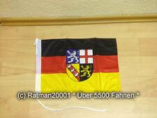 Fahnen Flagge Saarland Bootsfahne Tischwimpel - 30 x 45 cm