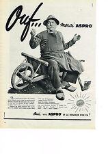 PUBLICITE ADVERTISING   1957   ASPRO    aspirine