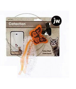 JW PET CAT TOY CANVAS BUTTERFLY PLAY HANG ON DOOR. FREE SHIPPING IN THE USA