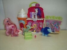 My Little Pony Sweet shoppe Ice Cream with 6 ponies and accessory lot