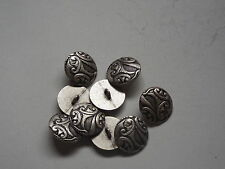 8pc 20mm Pewter French Inspired Floral Metal Cardigan Trouser Shirt Button 0220