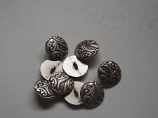 8pc 15mm Pewter French Inspired Floral Metal Cardigan Trouser Shirt Button 0219
