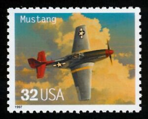 #3142a 32c P-51 Mustang, Mint **ANY 5=FREE SHIPPING**