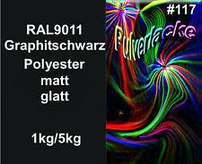 PULVERLACK Beschichtungspulver Pulverbeschichtung RAL9011 schwarz matt
