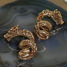 2 Stck Bartcreole Bartperle Bartschmuck u Gummis Bronze Wikinger Drache Re + Li