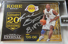 2016 Panini Eternal Kobe Bryant Signed 81 Points #3/8 Lakers