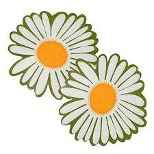 2 x Margarite SOMMERBLÜTE 20 cm groß Filz Blüte Dekoblüte Unterlage Untersetzer