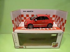 MONDO MOTORS ZT24767 ( FIAT ) ABARTH 500 -  RED 1:18 - NEAR MINT IN BOX