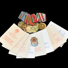 9 x Sowjetischen Orden und Ehrenzeichen UDSSR Auszeichnung 1 PERSON ANTIK RAR
