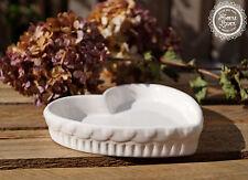 Schale Ablage Tablett Küche weiß Keramik Deko Landhaus Shabby French Vintage