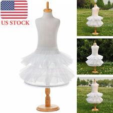 Flower Girls Petticoat Bridal Dress Crinoline Underskirt Slips White(US STOCK)