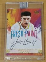 LONZO BALL One of One 2017-18 Panini Court Kings Black Box AUTO RC ROOKIE 1/1