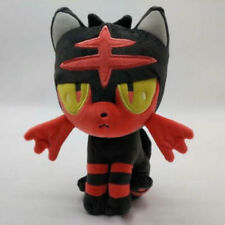 New Cute Pokemon Litten Plush Doll Sun Moon Stuffed Toy Gift 18cm