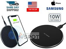 Qi Wireless Fast Charger Charging Dock Pad Mat For Samsung S10 iPhone 8 X 11 10W