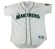 Vintage Seattle Russell Diamond Collection Mariners Button Up Jersey Size 44