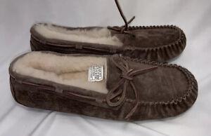 UGG Australia Dakota Brown Suede Women Moccasins Slippers Size US 9, EU 40