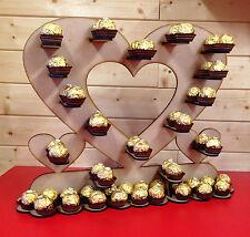 FERRERO ROCHER HEART Mdf Craft Kit Table Decoration Sweet Cart