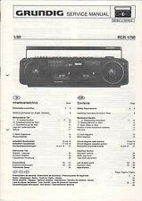 Grundig Service Anleitung Manual RCR 1750   B911