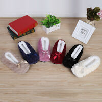 Women Indoor Slipper Faux Fur Plush Non-slip Shoes Solid Warm Home Soft Basic