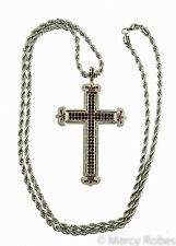 "Pectoral Cross With 40"" Chain (SUBS940 A Purple) Clergy, Christian"