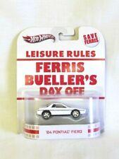 Hot Wheels Leisure Rules Ferris Bueller's Day Off '84 Pontiac Fiero NIB