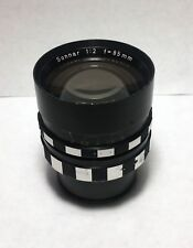 Carl Zeiss 85mm Sonnar f2.0 Arri Cine Lens, S35 FilmFormat, West Germany