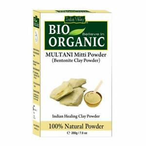 Indus Valley BIO Organic Bentonite clay ( Multani Mitti Powder ) 200 gm