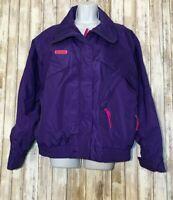 Vintage COLUMBIA Purple Waterproof Ski Jacket Windbreaker Retro Women's Size L