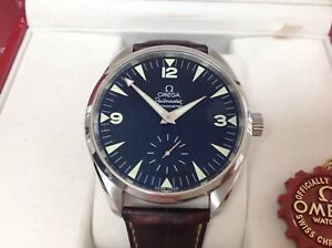 OMEGA RAILMASTER  49mm. MINT CONDITION BOXES TAG AND BOOKLETS