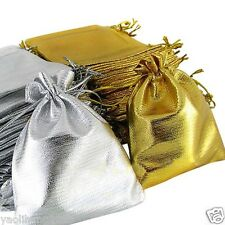 25/50PCS Drawstring Organza Voile Jewelry Favour Wedding Gift Pouch Bags 9X12cm