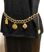 Authentic Vintage CHANEL Castellane Season 23 Heavy Gold Medallion Metal Belt