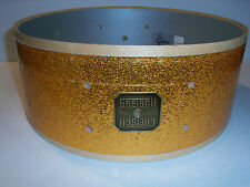 Gretsch USA Custom Drum Shell 6 Ply Snare 5x14 Gold Sparkle 10 Lug Drilled