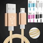 1/1.5m Metal Braided USB SYNC Data Cable Charger For Cell Phone Android Samsung