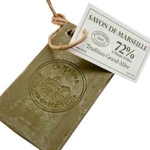 Savon de Marseille - 72% Olive Oil Soap on a Rope - Multipurpose - 250g Slice