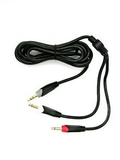 """1x 6' Stereo Male 3.5mm (1/8"""") to Dual Mono Male 3.5mm Cable - Philmore 44-290"""