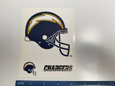 "San Diego Chargers NFL Football Sheet of 3 Logo Stickers (4.25"" x 5.5"")"