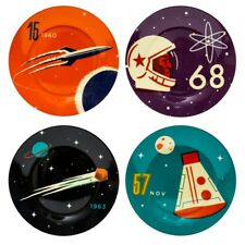 Cosmos Side Plates - Set  of Four