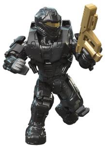 Mega Construx  Halo Gold Series 10 , black spartan RECON  NEW In Sealed Bag