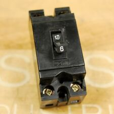 TJR-IL B-2E Circuit Breaker 6A 110/220V , 2 Pole. - USED
