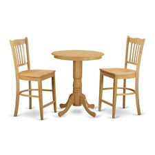 3-Piece dining counter height set - high top table and 2 dinette chairs. NEW