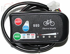 24V or 36V E-Bike LED 880 Control Panel For Electric Bicycle DIY Conversion Kits