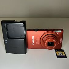 Canon PowerShot ELPH 110 16.1MP Digital Camera Red + Battery, Charger Works READ