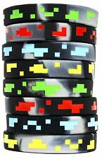 8 Deluxe Pixel Silicone Wristband, Bracelet, Party Favors for Kids Party Favors