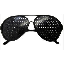 Hot Eyesight Improver Anti-fatigue Vision Care Stenopeic Pinhole Glasses Black