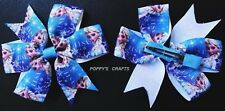 1 x FROZEN ELSA HAIR BOW (APPROX. 3.5 INCHES WIDE) WITH CLIP