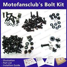 For Kawasaki ZX 9R 1998 98 99 00 01 Complete Full Fairing Bolt Kit Black GM