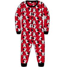 Girls Minnie Mouse Long Sleeved All in One Pjs Pyjamas Nightwear 1Onesie Age 7-8