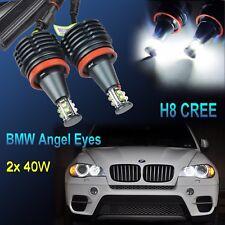 H8 80W Angel Eyes LED Marker E82 E90 E91 E92 E60 E63 E71 M6 X1 X5 X6 Z4 M3