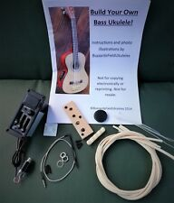 DIY bass ukulele kit - build your own electro acoustic U-bass. Std Kit.