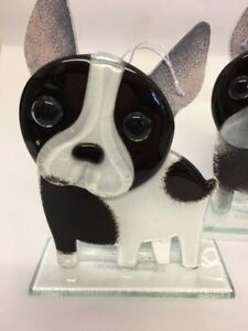 French Bulldog Frenchie Glass Ornament Fused Glass Nobile Glass & Giftware